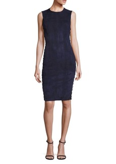Alice + Olivia Larita Suede Lace-Up Dress