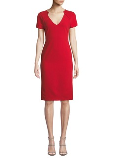 Alice + Olivia Latisha Piped Fitted Dress