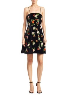 Alice + Olivia Launa Embroidery Dress
