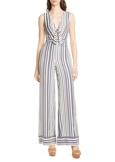 Alice + Olivia Laurice Tie-Front Jumpsuit