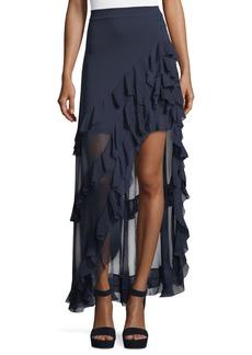 Alice + Olivia Lavera Asymmetric Layered Ruffled High-Low Skirt