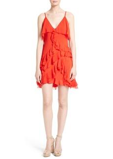 Alice + Olivia Lavinia Ruffled A-Line Dress