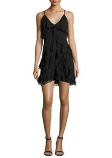 Alice + Olivia Lavinia Sleeveless Ruffle Mini Dress