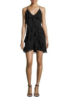 Alice + Olivia Lavinia Sleeveless Ruffle Mini Dress