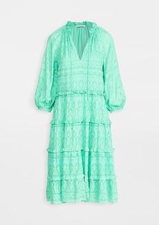 alice + olivia Layla Tiered Ruffle Midi Dress