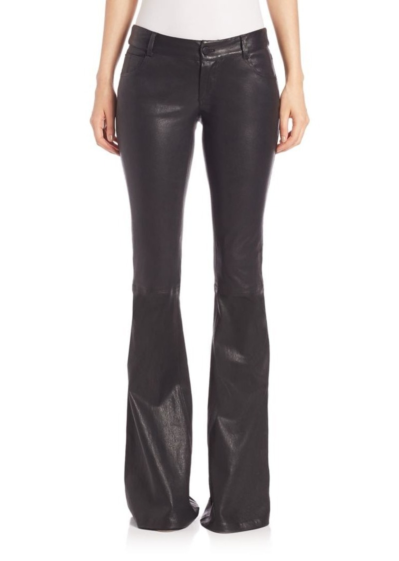 a807aefb186 Alice + Olivia Leather Bell Pants