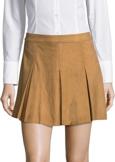 Alice + Olivia Leather Suede Skirt