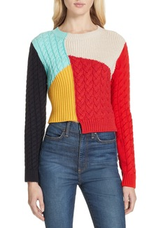 Alice + Olivia Lebell Colorblock Sweater