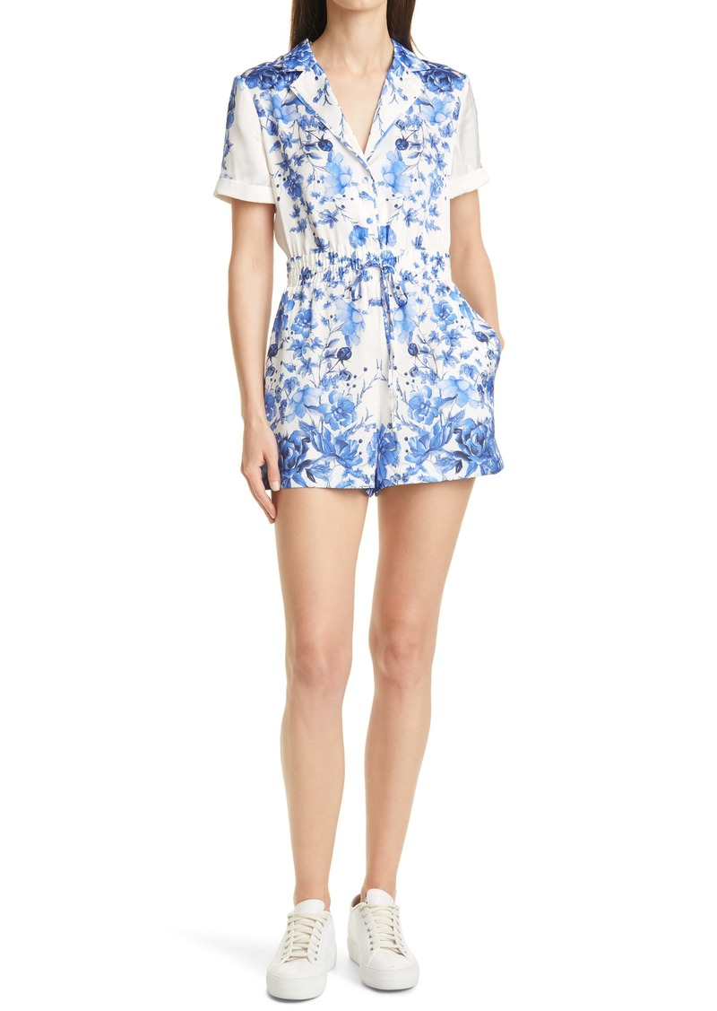 Alice + Olivia Leighton Floral Pajama Romper