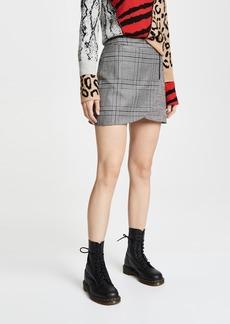 alice + olivia Lennon Overlap Miniskirt