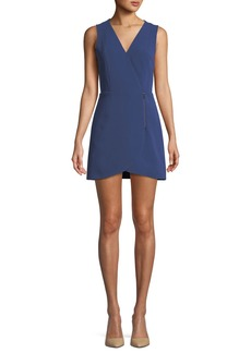 Alice + Olivia Lennon Side-Zip Mini Dress