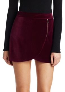 Alice + Olivia Lennon Velvet Mini Skirt