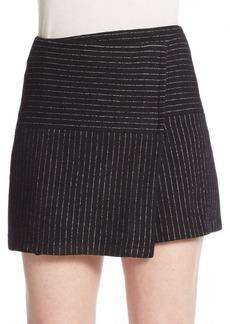 Alice + Olivia Lennon Crossover Angled Skirt