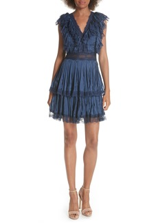Alice + Olivia Lenora Pleat Tiered Dress
