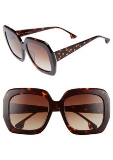 Alice + Olivia Lexington 55mm Square Sunglasses
