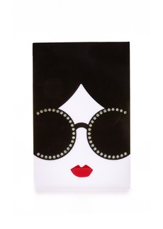 alice + olivia Light Up Stacey Face Clutch