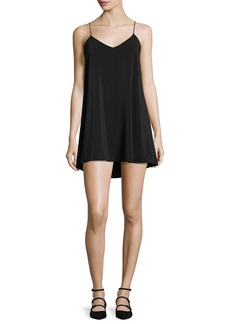Alice + Olivia Lilla Spaghetti Strap Swing Tunic Dress