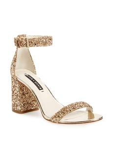 Alice + Olivia Lillian Glitter Ankle Strap Sandal (Women)
