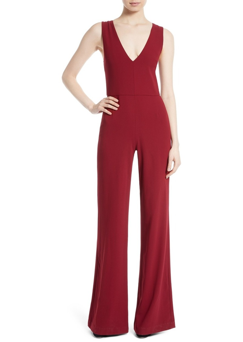Alice + Olivia Lina Double V-Neck Jumpsuit