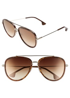 Alice + Olivia Lincoln 58mm Aviator Sunglasses