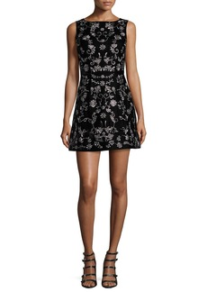 Alice + Olivia Lindsey Embroidered Mini Dress