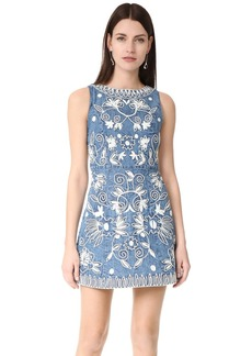 alice + olivia Lindsey Embroidered Pouf Dress