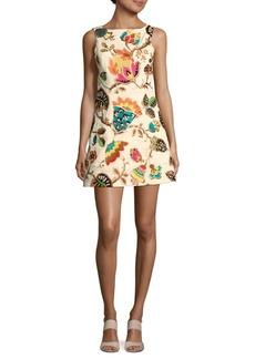 Alice + Olivia Lindsey Printed Sleeveless Dress