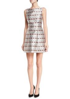 Alice + Olivia Lindsey Structured Cosmetics-Print Dress