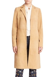 Alice + Olivia Logan Suede Coat