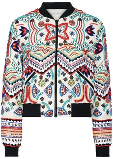Lonnie embellished silk-chiffon bomber jacket