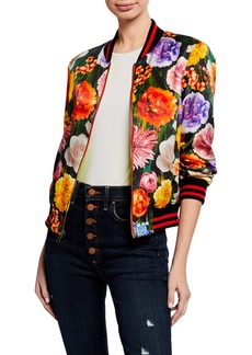 0b5075fa3aeb Alice + Olivia Lonnie Reversible Leopard Bomber Jacket Now $206.25