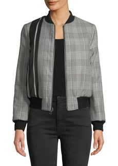 Alice + Olivia Lonnie Reversible Cropped Bomber Jacket