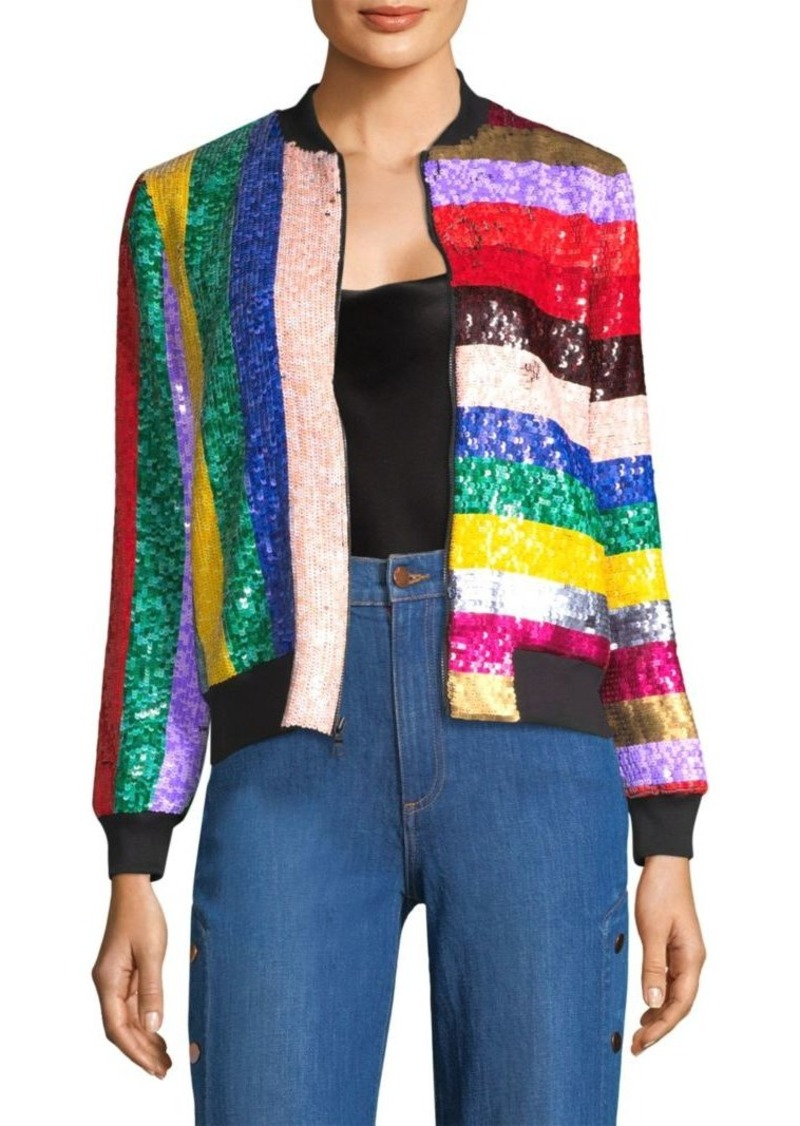 9a6b194a1 Lonnie Sequin Bomber Jacket