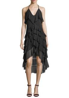 Alice + Olivia Lorilee High-Low Ruffled Dress