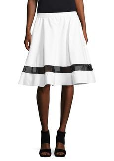 Alice + Olivia Lotus Banded Crepe Skirt