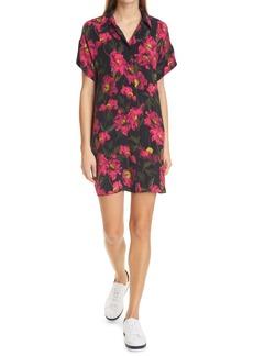 Alice + Olivia Lucette Floral Print Mini Shirtdress