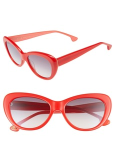 Alice + Olivia Ludlow 53mm Gradient Lens Cat Eye Sunglasses