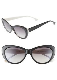 Alice + Olivia Ludlow 53mm Gradient Lens Cat Eye Sunglasses