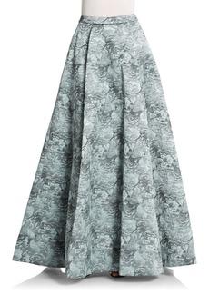 Alice + Olivia Lynette Floral Jacquard Full Skirt