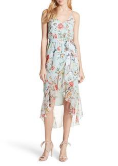 Alice + Olivia Mable Floral Silk Midi Dress