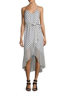 Alice + Olivia Mable Hi-Lo Midi Dress