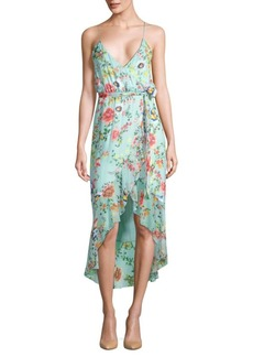Mable Ruffled Floral Wrap Dress