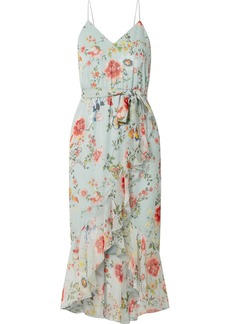 Alice + Olivia Mable wrap-effect floral-print silk-georgette midi dress