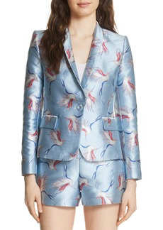 Alice + Olivia Macey Bird Print Jacket