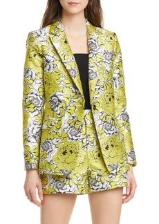 Alice + Olivia Macey Floral Fitted Blazer