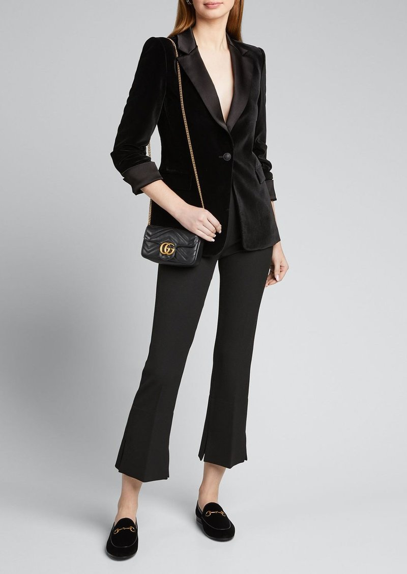 Alice + Olivia Macey Pleated-Sleeve Fitted Blazer