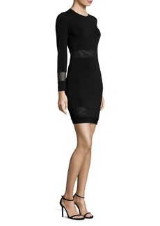 Alice + Olivia Madie Sheer Inset Dress