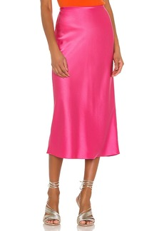 Alice + Olivia Maeve Mid Length Slip Skirt