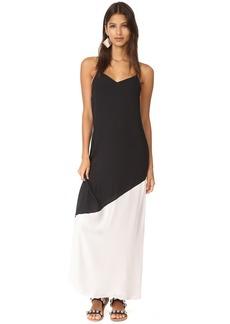 alice + olivia Maggie Paneled Maxi Slip Dress