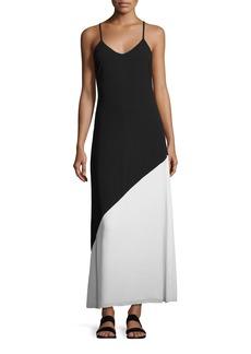 Alice + Olivia Maggie Paneled Slip Maxi Dress